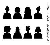 female icon set monochrome... | Shutterstock .eps vector #1924322528