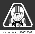 an ambitious car race driver... | Shutterstock .eps vector #1924323302