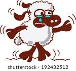 cute little sheep with dark...   Shutterstock .eps vector #192432512