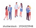 different isomeric people... | Shutterstock .eps vector #1924325948