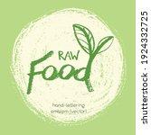 vector lettering for vegan food ... | Shutterstock .eps vector #1924332725