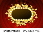 casino lamp frame with gold... | Shutterstock .eps vector #1924336748