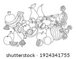 fruit. still life with... | Shutterstock .eps vector #1924341755