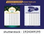 ramadan schedule 2021 for... | Shutterstock .eps vector #1924349195