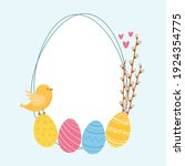 Easter Colorful Cartoon Style...