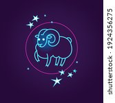 vector illustration with aries... | Shutterstock .eps vector #1924356275