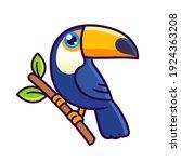 cute cartoon toco toucan...   Shutterstock .eps vector #1924363208