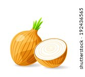 vector fresh brown onions on... | Shutterstock .eps vector #192436565