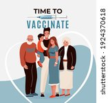 family vaccine  safety concept... | Shutterstock .eps vector #1924370618