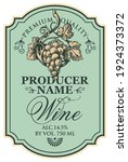 vector wine label decorated... | Shutterstock .eps vector #1924373372