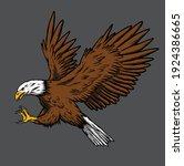 eagle vector illustration  can...   Shutterstock .eps vector #1924386665