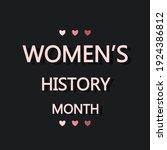 women's history month...   Shutterstock .eps vector #1924386812