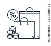 retail bags  percent  money....   Shutterstock .eps vector #1924388438