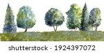 watercolor drawing summer...   Shutterstock . vector #1924397072