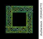 ethnic handmade frame for your... | Shutterstock .eps vector #1924414772