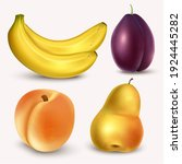 Vintage Realistic Fruits And...