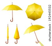 set of various umbrellas... | Shutterstock . vector #192445532