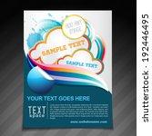 vector creative brochure flyer... | Shutterstock .eps vector #192446495
