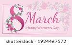 8 March Banner. Flower Frame...