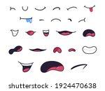 cartoon mouths. caricature... | Shutterstock .eps vector #1924470638