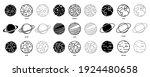 planet icon set vector. modern... | Shutterstock .eps vector #1924480658