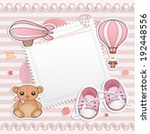 baby girl shower card. | Shutterstock .eps vector #192448556