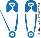 brooch icon. pin icon vector... | Shutterstock .eps vector #1924493288
