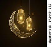 ramadan kareem golden lantern... | Shutterstock .eps vector #1924494152