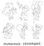 kids in kindergarten play with... | Shutterstock .eps vector #1924496855