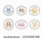 dog breeds frame badges or logo ... | Shutterstock .eps vector #1924500788