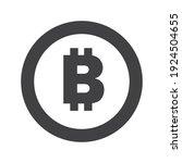 bitcoin symbol icon  black and... | Shutterstock .eps vector #1924504655