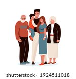 happy family vector... | Shutterstock .eps vector #1924511018
