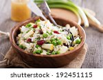 salad with rice  apple ... | Shutterstock . vector #192451115