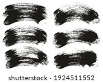 round brush thick curved... | Shutterstock .eps vector #1924511552