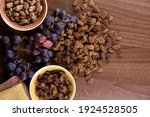 Dried Raisins With A Bunch Of...