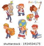 back to school. little children ... | Shutterstock .eps vector #1924534175