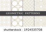 set of geometric seamless... | Shutterstock .eps vector #1924535708