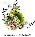 the view of flowers with plant  | Shutterstock .eps vector #192454682