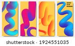 set of four abstract background ...   Shutterstock .eps vector #1924551035