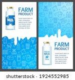 fresh milk banner vertical set...   Shutterstock . vector #1924552985