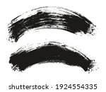 round brush thick curved... | Shutterstock .eps vector #1924554335