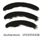 round brush thick curved... | Shutterstock .eps vector #1924554338