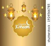 ramadan kareem or eid mubarak... | Shutterstock .eps vector #1924566785