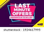 last minute offers discounts up ... | Shutterstock .eps vector #1924617995
