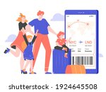 family is standing near a...   Shutterstock .eps vector #1924645508