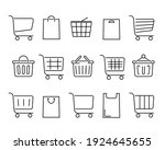 set of shopping carts flat icon.... | Shutterstock .eps vector #1924645655