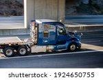 Big Rig Shiny Blue Semi Truck...
