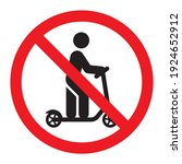 no scooter sign. kick scooter... | Shutterstock .eps vector #1924652912