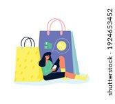 online shopping composition...   Shutterstock .eps vector #1924653452