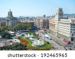 View Of Catalonia Square In The ...